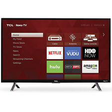 TCL 32-inch Roku Smart LED HDTV with 720p Resolution & 60Hz Refresh Rate - Black