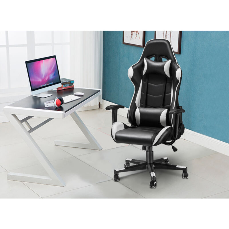 Computer Games - Heavy duty Leather Computer Gaming Racing Chair Executive Recliner Office Chair