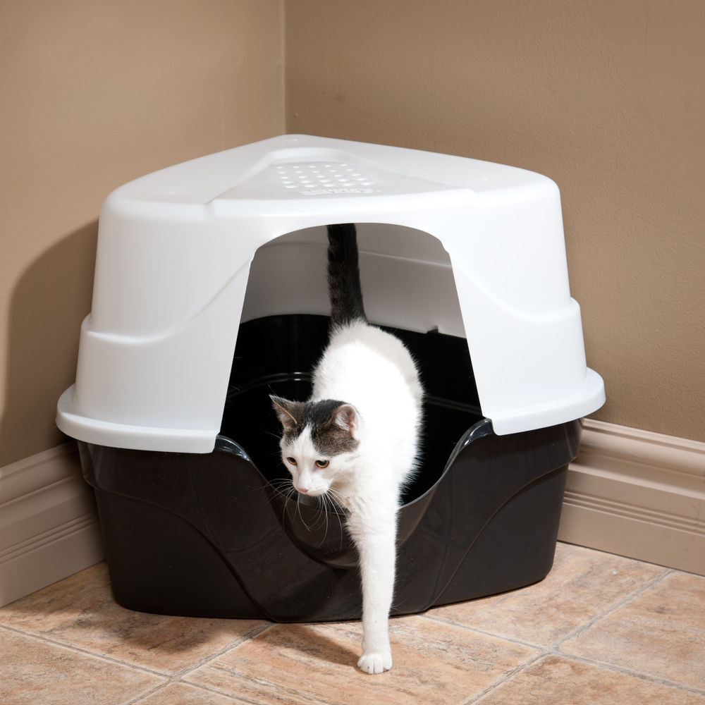 miracle advanced hooded corner litter box