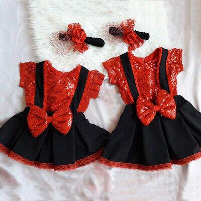 Kinder Baby Mädchen Kleidung Pailletten Tops + Bowknot Rock Kleid Outfits Set