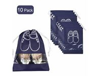 10x Portable Dust-proof Breathable Travel Shoe Organizer Bags
