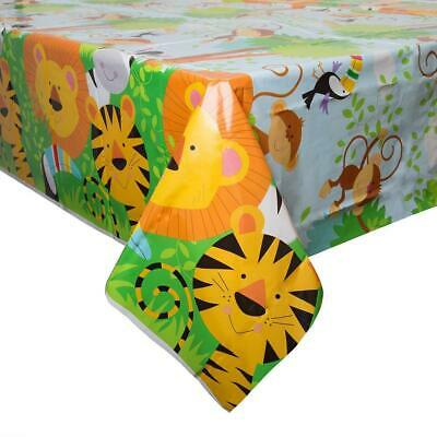 ANIMAL JUNGLE PLASTIC PARTY TABLE COVER LION TIGER ZEBRA NEW - Zebra Table Cover