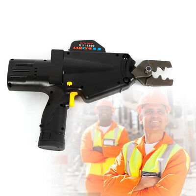 Battery Powered Crimping Tool For Wire Cable Lug Terminal Crimper 8AWG-1AWG