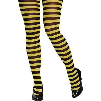 Rub - Kostüm Zubehör Damen Strumpfhose Biene Karneval Fasching Party