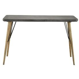 Grey and wood console table/desk