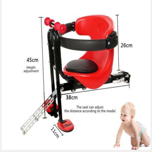 fahrrad kindersitz f r vorn komplett set baby fahrrad sitz handrail pedal ebay