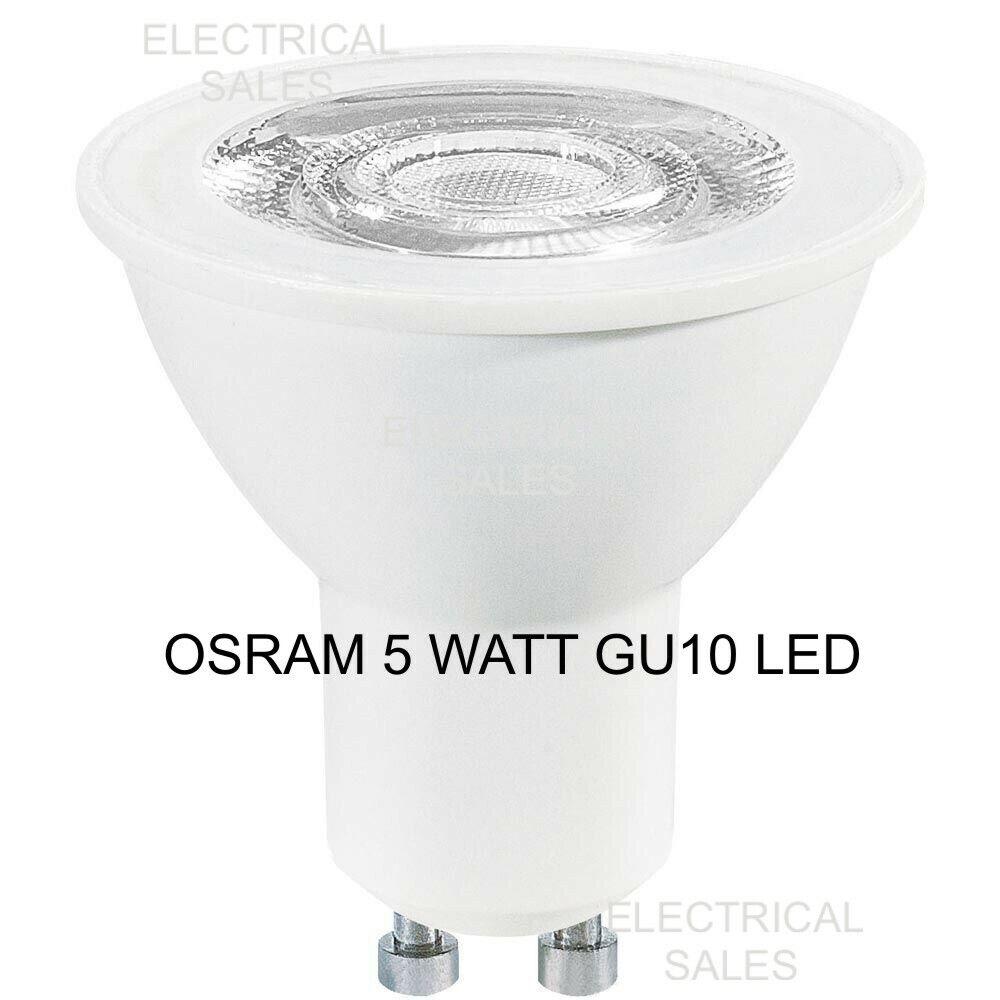 5 Energy Bewertet OSRAM 5 Watt GU10 LED Glühbirne Lampe Cool Weiß 4000K A