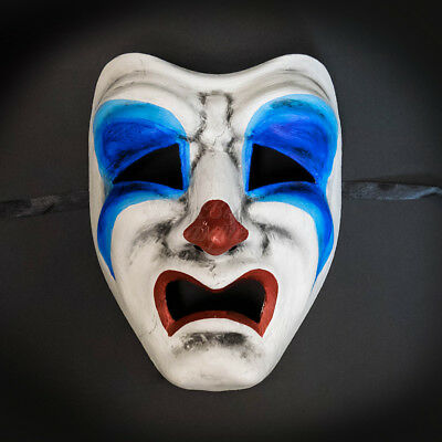 Masquerade Mask Limited Edition 2017 Halloween Tragedy Face Sad Clown Costume (Halloween 2017 Masks)