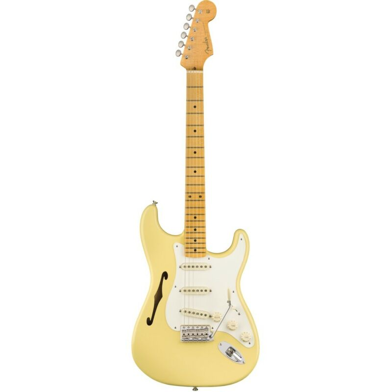 Fender Eric Johnson Thinline Stratocaster Maple Vintage White Electric Guitar