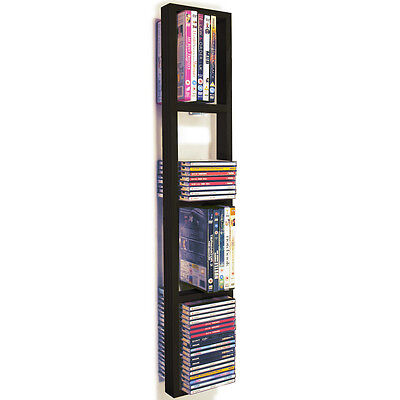 Iris - da parete CD/DVD/BLU RAY Scaffale per magazzinaggio - Nera/Marrone