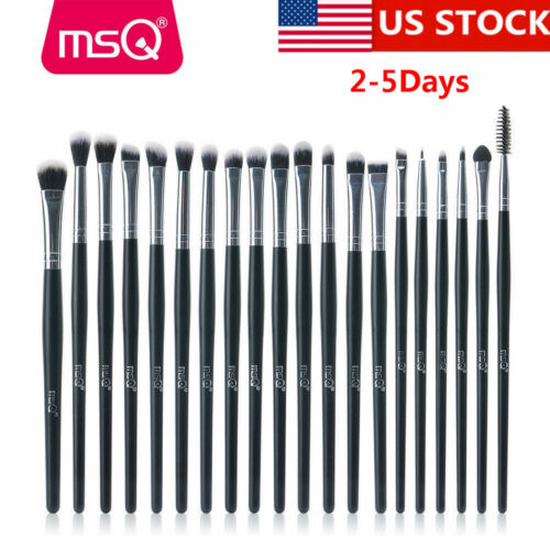 US 20Pcs Eyeshadow Brow Makeup Brush Sets Eyeliner Blending