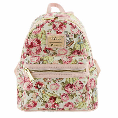 Loungefly Disney Belle Floral Mini Backpack Multi/Floral Multi Mini Backpack