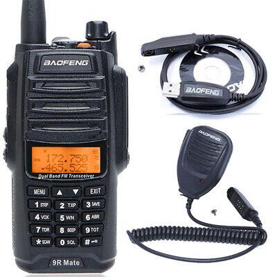 Baofeng UV-9R Mate 10W V/UHF Walkie Talkie Dual Band 2-Way Radio & Headset & Mic