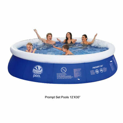 LARGE 12ft Prompt Set Round Inflatable Family Swimming Paddling Pool Garden Out