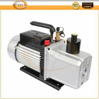 1 Hp Rotary Vane Deep Vacuum Pump Black 12 Cfm 110v Hvac Ac Refrigerant Charge