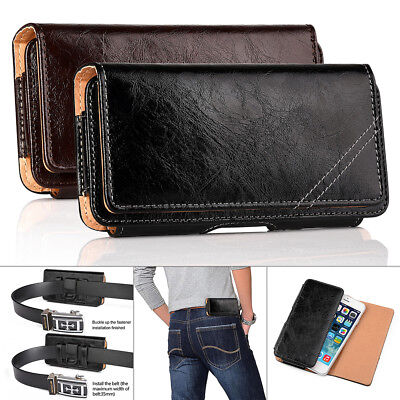 For Apple iPhone 7 6 6S Plus Premium Leather Case Cover Holster Belt Clip Pouch (Apple Iphone Leather Pouch)