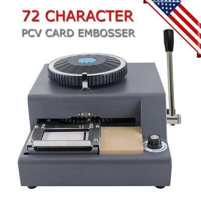 72 Character Letter Manual Embosser Pvc Stamping Card Embossing Machine 1-11line