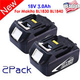 HOT 2PCS 18V 3.0Ah LITHIUM ION BATTERY LXT FOR MAKITA BL1830 US LATEST PACK