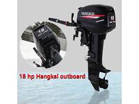 HANGKAI 2-Stroke 18HP Heavy Duty Outboard Motor Boat Engine Motor CDI System