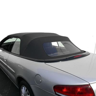 Chrysler Sebring Convertible Top Replacement With Plastic Window 1996-2006 Black 2001 Chrysler Sebring Window