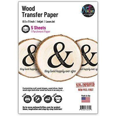 Nufun Activities Inkjet Printable Iron-on Heat Transfer Paper For Wood 8.5 X 11