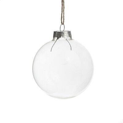 Clear Glass ball Wedding Balls Christmas Glass Ornaments Pendants Party Decor ()