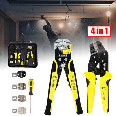 4in1 Wire Crimpling Plier Ratcheting Terminal Crimpers Engineering Set Kit Wbag