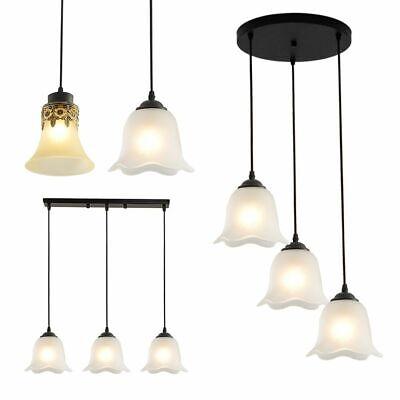 Modern Cluster Pendant Light Glass Shade Chandelier Island Lamp Ceiling -