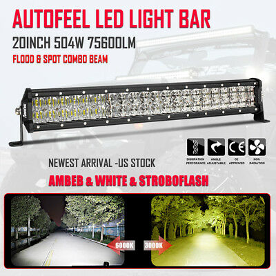 Amber led light barebay 1 20inch 504w vs 1560w led light bar spot flood combo offroad amber white foglight mozeypictures Gallery