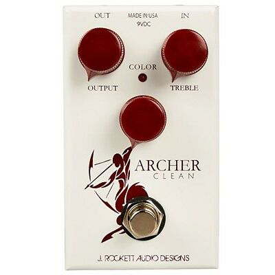 J Rockett Designs Archer Clean Color Boost Guitar Effects Pedal True Bypass for sale  Shipping to Canada