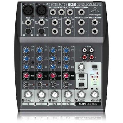 BEHRINGER xenyx 802 mixer professionale per DJ 8 canali NUOVO garanzia ITALIA usato  Bellariva