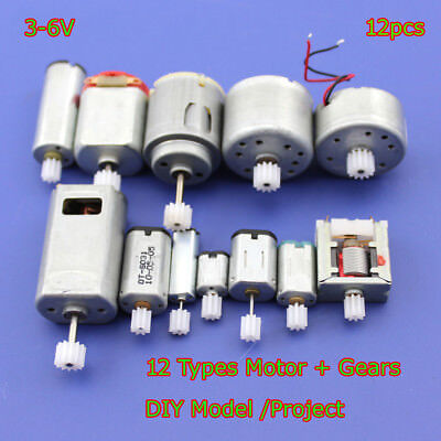 12pcs Dc 3v 6v Mini 130 Micro Dc Motor Gear Round Small Motor Toy Car Diy Model