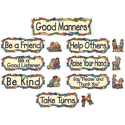 Good Manners Bulletin Board (SW Good Manners Mini Bulletin Board Teacher Created Resources)