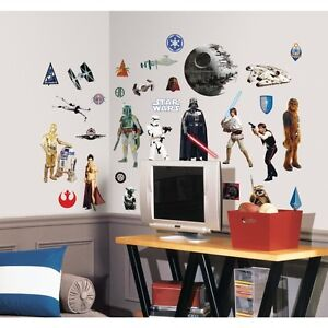 31 CLASSIC STAR WARS WALL DECALS Movie Stickers Decoration Boys Bedroom  Decor