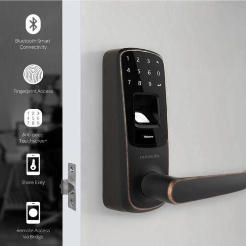 Fingerprint Keyless Entry Smart Door Lock w/ Electronic Touc