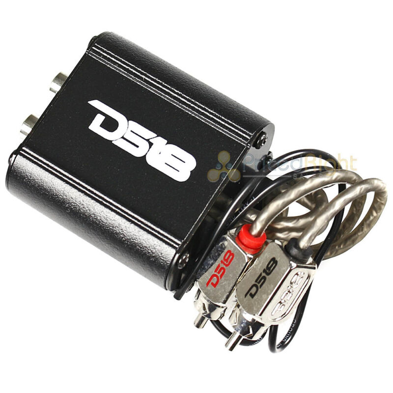 DS18 Professional Noise Filter 2 Channel RCA Female In Male Out Car Audio NF1