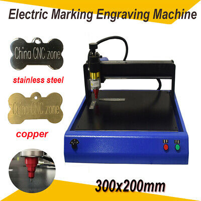 Electric Router Metal Marking Engraving Machine 300x200mm For Dogtag Steel Us