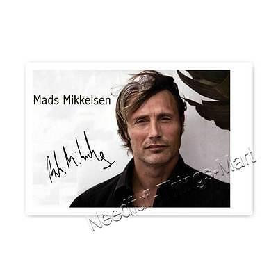 Mads Mikkelsen / Dr. Lecter aus Hannibal -  Autogrammfotokarte laminiert [A02] 