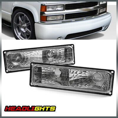 For Chevy 88-98 Silverado Pickup Bumper Parking Lights Turn Signal Lamps Pair
