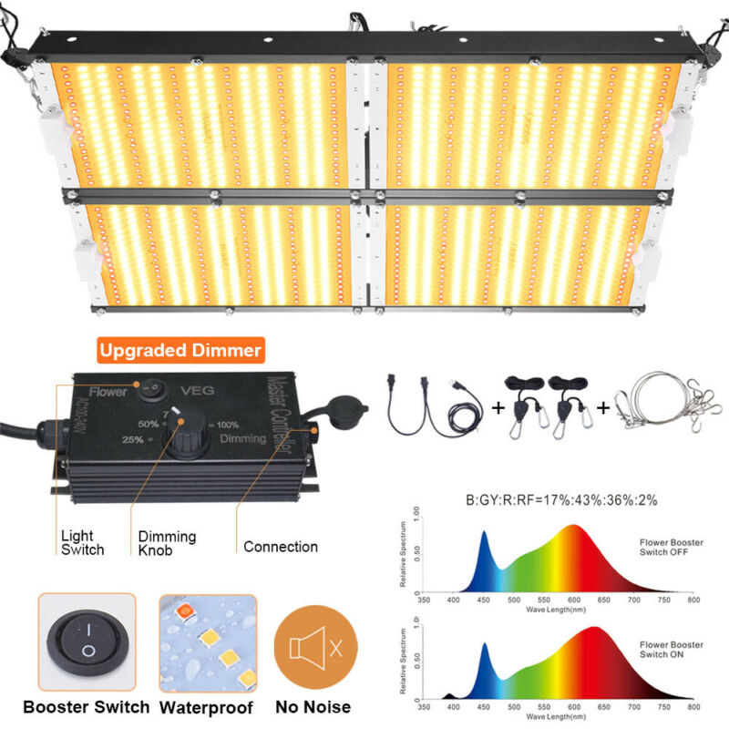 Fully Dimmable 4000W LED Grow Light 4