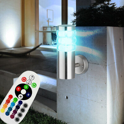 LED RGB Wall Lamp Outdoor Area Remote Control Dimmer Garden Path Lighting modern