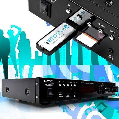 PA Karaoke Musik System Anlage Bluetooth Verstärker MP3 USB SD 2x50 W FM Tuner