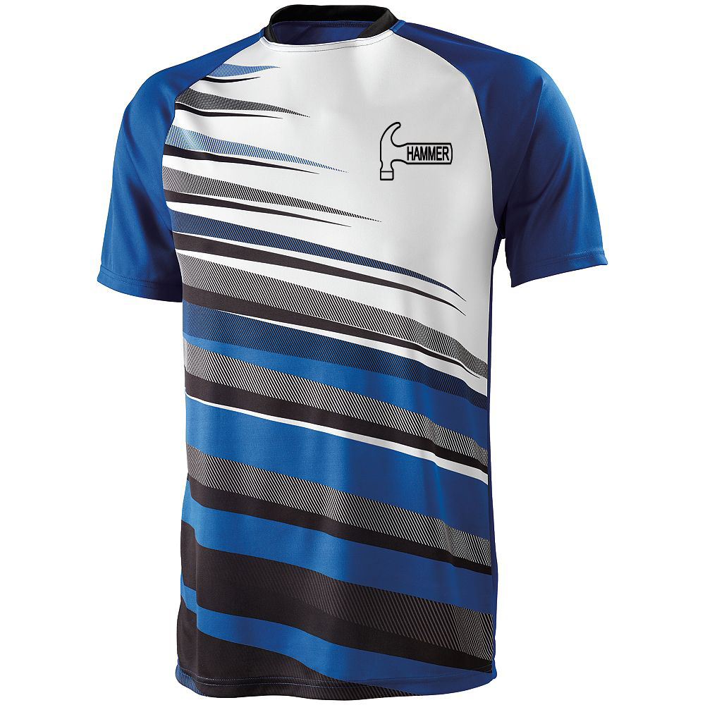 Hammer Men's Sauce Performance Jersey Bowling Shirt Dri-fit Royal