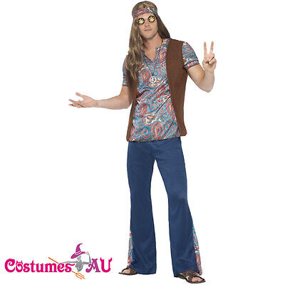 Mens Orion The Hippie Costume 1960s 60s 70s 1970s Groovy Hippy Funny Outfits (Funny 60s Costumes)