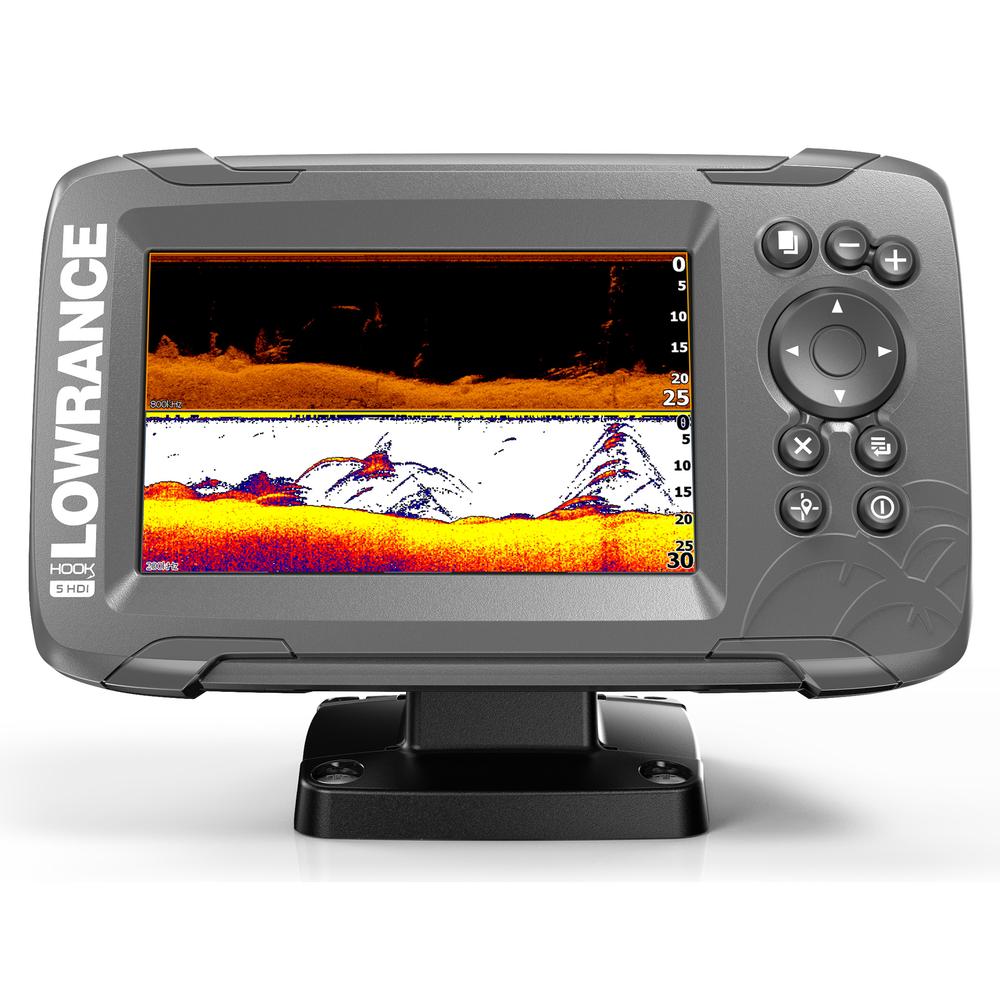 New Lowrance Hook2-5 Splitshot Sonar GPS Combo With Nav+ Chart 000-14282-001