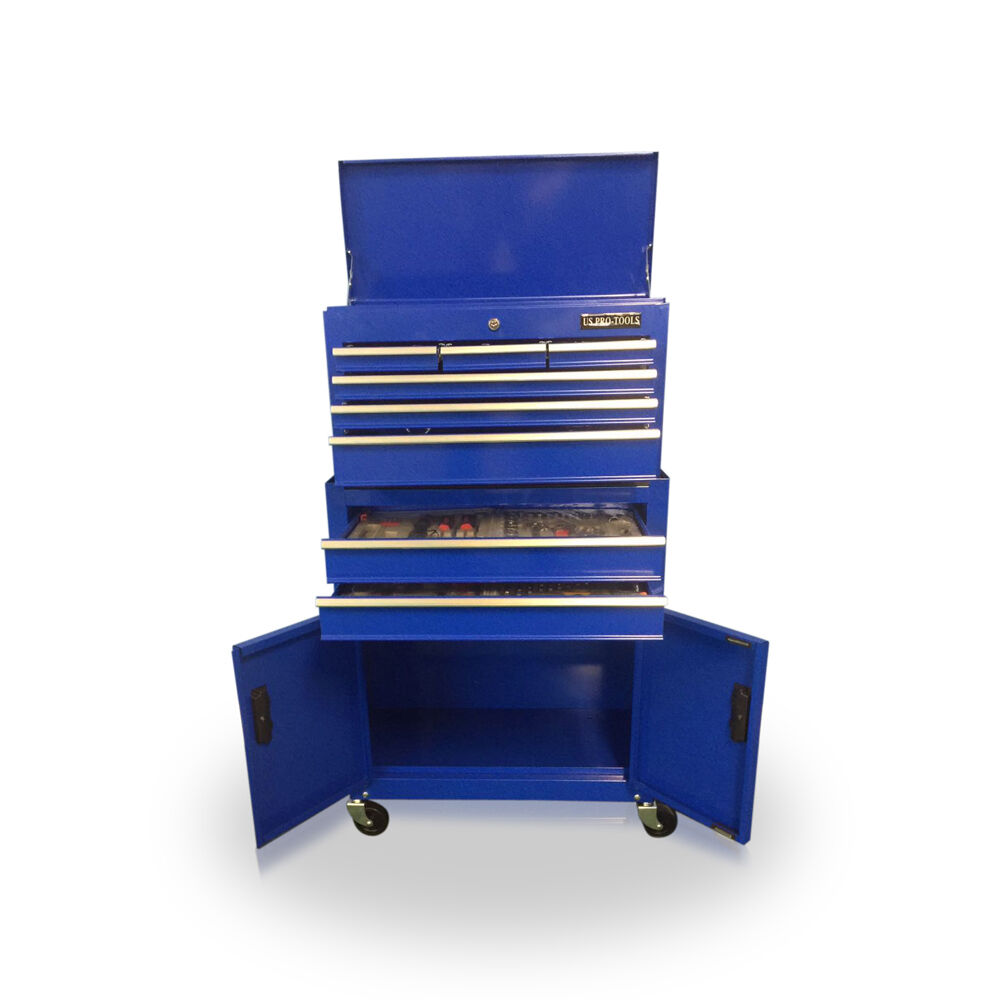414 mechanics tool chest box roller cabinet with tools in - Sideboard bei roller ...
