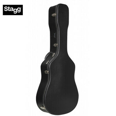 Stagg GEC-W Lightweight Acoustic Dreadnought Guitar Full Size Hard Case Black