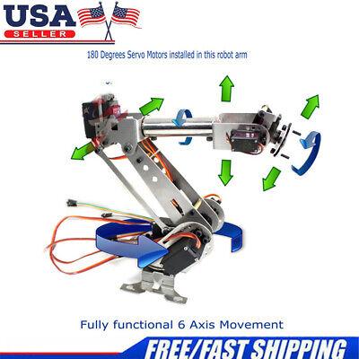 6dof Mechanical Robotic Arm Clamp Wservos Diy For Robot Smart Car Arduino Scm