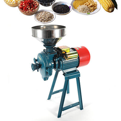 1500W Electric Animal Poultry Feed Mill Dry Grinder Corn Grain Rice Wheat