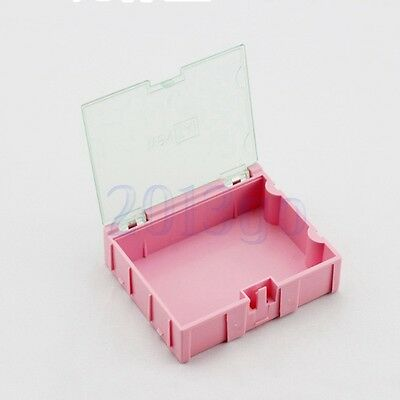 3pcs 3smt Smd Kit Parts Components Resistor Storage Boxes Pink 756321.5 Cg